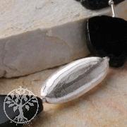 Silber Perle, Handgefertigt, 925er Silber, 40 mm