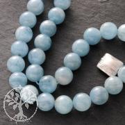 Gemstone-Beads, Aquamarine, ball, 10 mm