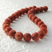 Gemstone-Beads, Coral, bead raw 18 mm