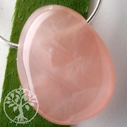 Rose Quartz Pendant A 30/35mm
