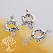 Silber-Verschluß, Spring-Ring 12 mm, 3 Stück
