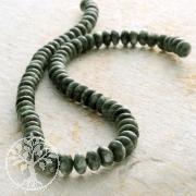Edelstein-Perlen, Serafinit, Button 4x8 mm