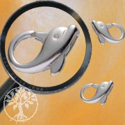 Childrens-clasp, Dolphin, 13,5 mm, Silver 925
