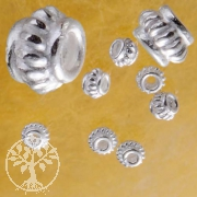Silver-Bead, 4,5 x 3,5 mm, 10 pieces