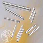 Silberperle Röhrchen, 15x2mm, 925er Silber