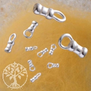 Cast Crimp Endcap with silver ring, silversterling 1.2mm