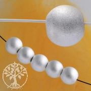 Silverbead, 8 mm, satin, big whole