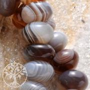 Achat Natur Schmuckperlen Button 8,5mm