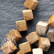 Landscape Jasper Gemstone-Beads Cube Diagonal 4mm