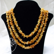 Extralange Bernstein-Halskette gelb