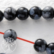 Snowflake Obsidian Gemstone-Beads Round 4mm