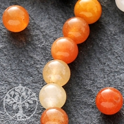 Achat Perlen Orange Kugel 4mm