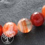 Carneol Perlen Kugel Facettiert 12mm/40cm Karneol facettierte Perlen#