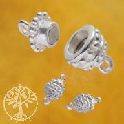 Silber-Magnet-Verschluß, 13 x 7 mm, 3 Stück