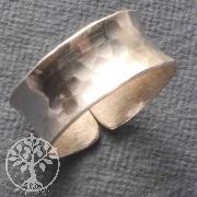 Silver Ring hammered Size adjustably