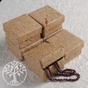 Kleine Schmuckbox braunes Bananenpapier 5,5 x 5,5 cm 6 Stück