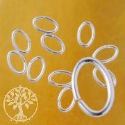 Bindering Oval Offen 5.3x3.5x0.64 mm kleiner Ring Silber 925
