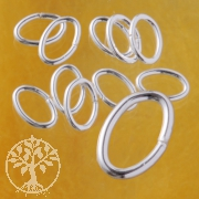 Oval Jump Ring Open 7x5x0.8mm