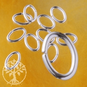Oval Jump Ring 6.4x9.6x1.27mm sterlingsilver Heavy and Stable