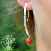Eigenwillige Silber-Korallen Ohrringe 18
