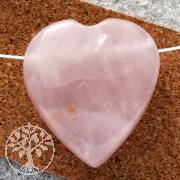 Rosenquarz Anhänger Herz Flat BIG 25-30mm seitl. gebohrtes Herz