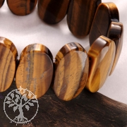 Tigerauge Armband Ovale Steine