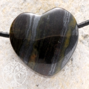 Tiger Iron Heart Pendant