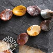 Ocean-Jaspis Perlen Twist Oval 19x8mm