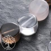 Rosenquarz Bergkristall Rauchquarz Perlen Mix 4 Disc