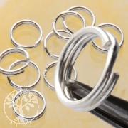 Splitring 8 mm Sterlingsilver for jewellery