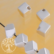 Silberwürfel diagonal 4 mm Silber 925 Würfel