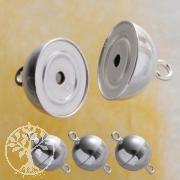 Magnet-Verschluß glänzend 12 mm 3 Stück
