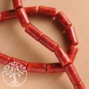 Coral Gemstone-Beads Barrel 18 x 10 mm