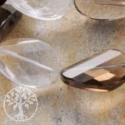 Bergkristall Rauchquarz Perlen Mix 1 Flache Facettierte Olive