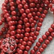 Coral Gemstone Beads Ball 5-6mm