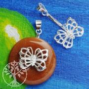 Donuthalter Butterfly aus Silber 925 Silberschmuck