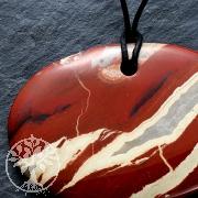 Roter Jaspis großer Stein Anhänger Oval 70*50mm