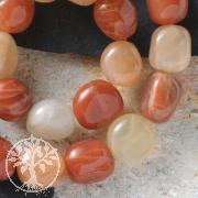 Gemstone-Beads Moonstone Flat Tumbled 17x16x12mm