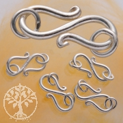 S-Hook Clasp Rings with Rings Sterlingsilver