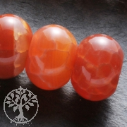 Feuerachat Perlen Button 14x10mm