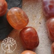 Feuerachat Perlen Runde Quader 15x12mm 40cm