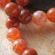 Feuerachat Perlen Kugel 12mm A-Qualität