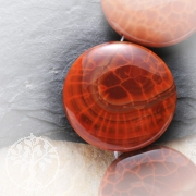 Fire Agate Solitary Bead Disc 40x10mm