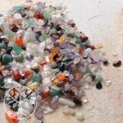 Kleine Steinchen Mini Steine 200 Gramm gemischte Edelsteine