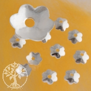 Bead Caps Flower Silver 10 Pieces
