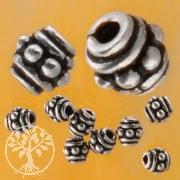 Oxidierte Silber Perle