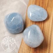 Calcit Blau Trommelstein 3 Stück