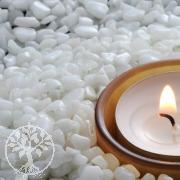 Mini Edelsteine Weiß 200Gr Schneequarz aus Indien Bastelsteine