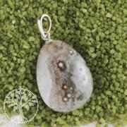 Ozean Jaspis Anhänger mit Silberöse