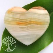 Onyx Marmor Herz Anhänger Belly 30x25
